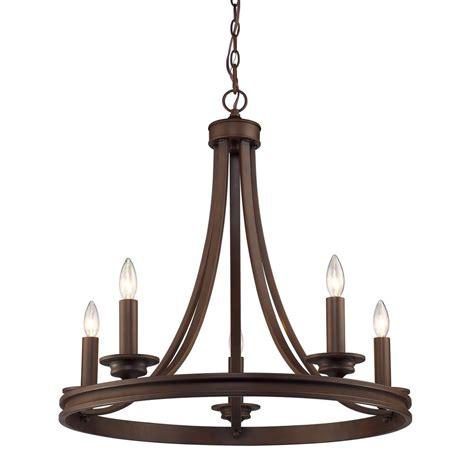 laurel designs saldano 5 light rubbed bronze chandelier