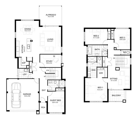 2 floor plans luxury home plans 7 bedroomscolonial house plans