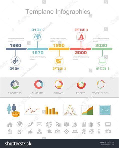 statistics template business timeline infographics vector design template stock vector 224072260