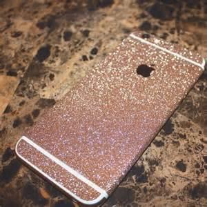 Rose Gold Glitter Decal iPhone 6s