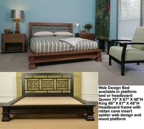 Web Rattan Cane Queen Platform Bed Ebay