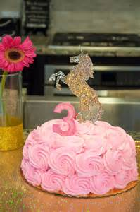 Unicorn with Pink and Gold Cake
