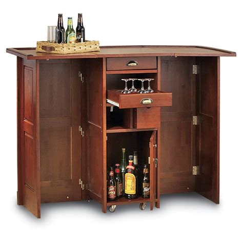 Portable Bar Furniture by Swing Open Portable Bar 101882 Kitchen Dining At