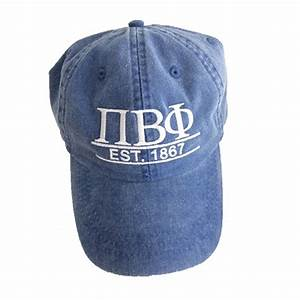 adams cap with custom greek letters and year established With custom greek letter hats