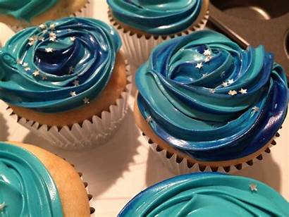 Cupcakes Space Galaxy Sweets Creative Cakes Christmas