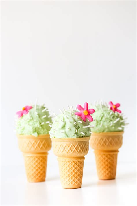 Ice Cream Cone Wallpaper Cactus Ice Cream Cones Studio Diy