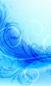 Abstract Floral Background with Blue Swirls - Vector download