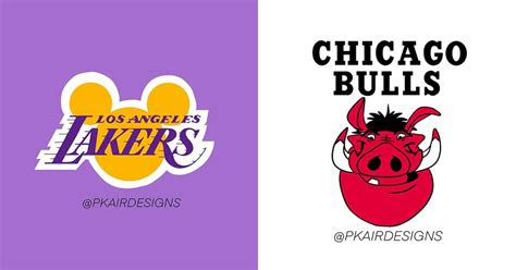 This Artist Reimagined NBA Logos With Disney Characters ...