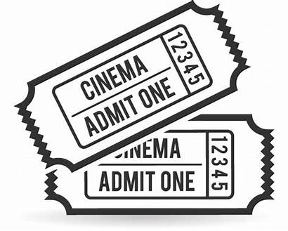 Clipart Ticket Film Transparent Template Cinema Coloring