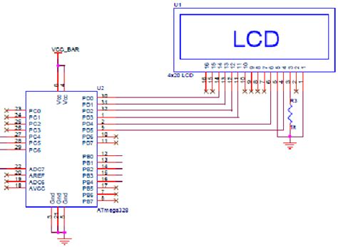 Lcd Wiring Diagram by Schematic Diagram For Microcontroller Lcd