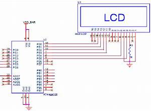 Schematic Diagram For Microcontroller Lcd Bus