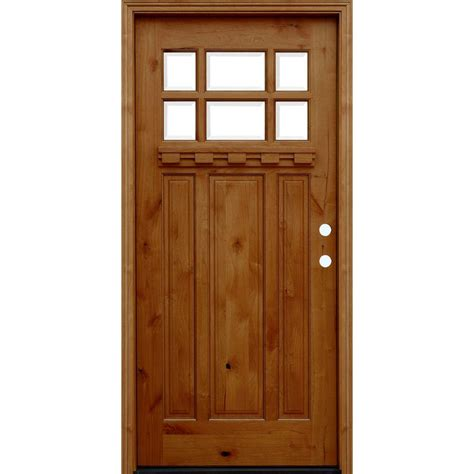 exterior doors home depot pacific entries 36 in x 80 in craftsman rustic 6 lite
