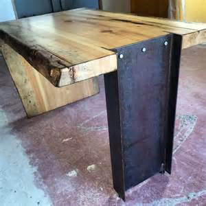 Kitchen Islands With Legs I Beam Live Edge Slab Desk Porter Barn Wood