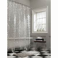designer shower curtain Awesome Clear Shower Curtain With Design | HomesFeed