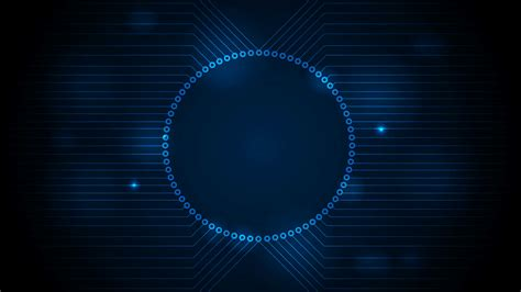 Animated Tech Wallpaper - blue tech circuit board technology motion design