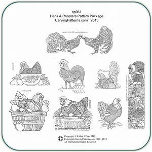 Hens, Roosters, U0026, Chickens, Patterns, U2013, Classic, Carving, Patterns