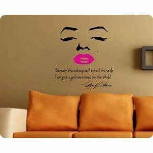 Marilyn monroe wall decal decor quote from home
