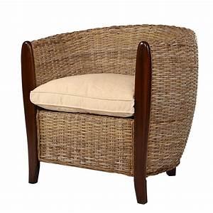 Fauteuil Rotin Design : fauteuil cabriolet en kubu fauteuil cabriolet en rotin sidney rotin design ~ Nature-et-papiers.com Idées de Décoration