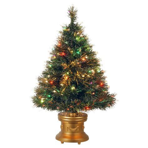 3 ft fiber optic ice pre lit full christmas tree
