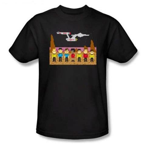 Star Trek Pixel Crew T-Shirt | Superman t shirt, Black tee ...