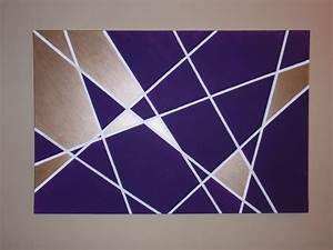 Geometric wall art diy wandering for Geometric wall art