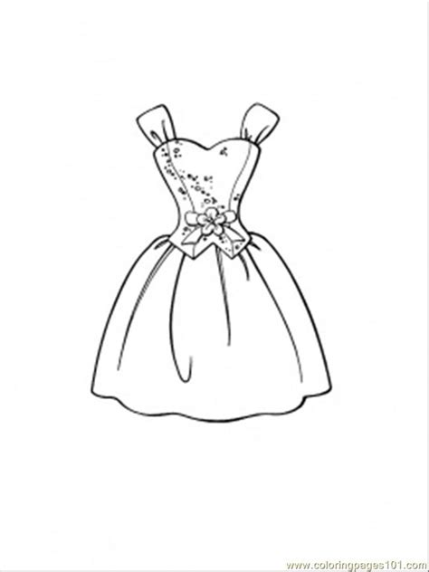 beautiful dress coloring page  clothing coloring pages coloringpagescom
