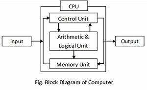 Write Down Block Diagram Of Computer  Or Write Down The