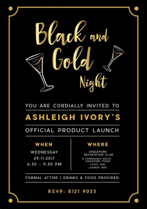 black  gold night ashleigh ivory product launch peatix