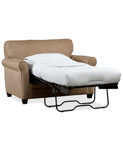 sleeper chair bed ottoman kaleigh 55 quot fabric sleeper chair bed furniture macy 39 s