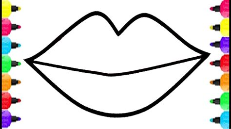lips coloring pages   draw lips   big kiss