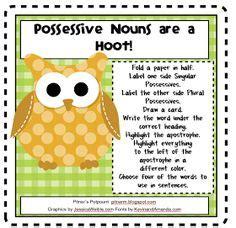 possessives word study images possessive nouns