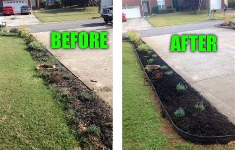 Pulled Bermuda Grass And All Other Weeds, Installed Edging