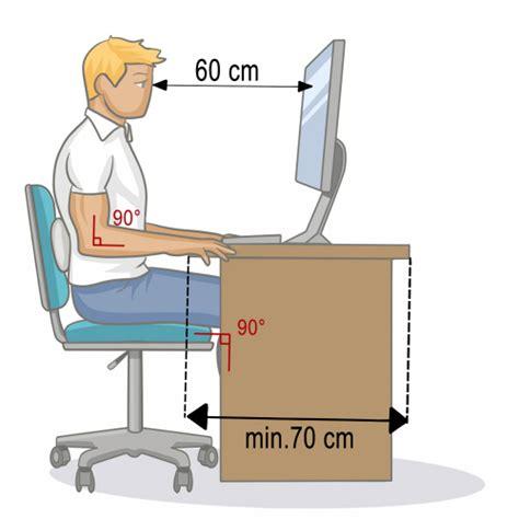 position assise bureau adopter une bonne position assise au bureau mal de dos