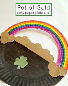 St Patrick's Day: Paper Plate Rainbow - Fun Crafts Kids