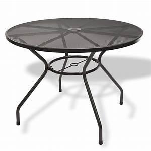 Tisch Rund 100 Cm : gartenm bel metall 1 x tisch rund 100x72 2 x stuhl set ~ Whattoseeinmadrid.com Haus und Dekorationen