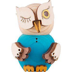 mini owl blue 7 cm 2 8in by drechslerei kuhnert