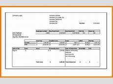 5+ free fillable pay stub template Samples Of Paystubs