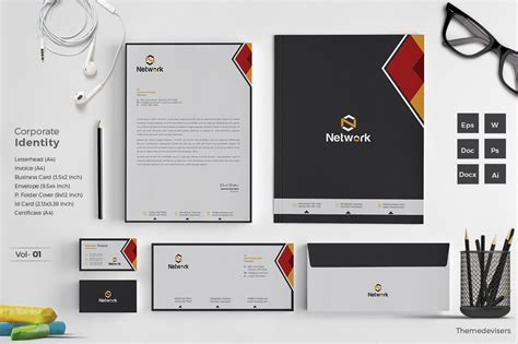 corporate identity stationery pack stationery templates