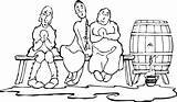 Sillies Wine Keg Clker Sitting Clip Spilling Vector Clipart Woman Brew Profession Master Svg Dmca Complaint Automatic sketch template