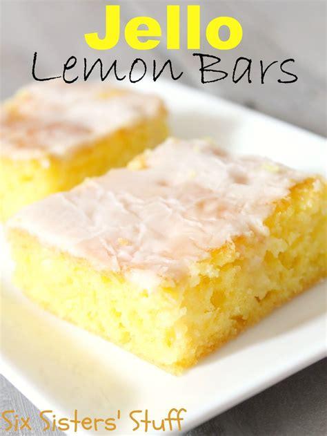 jello lemon bars from sixsistersstuff easy dessert recipe for summer six