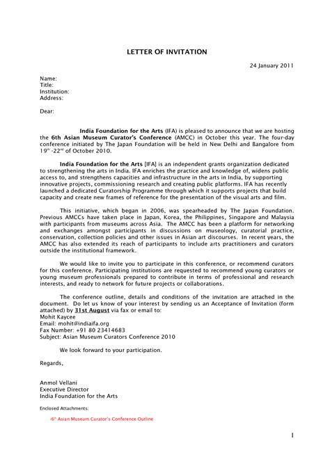 Format India Visa Template Invitation Letter DubaiVisa