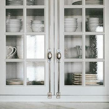 seedy glass for kitchen cabinets light gray kitchen with brass bar stools transitional 7881