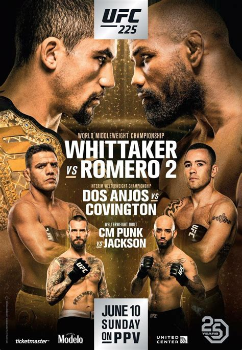 ufc  whittaker  romero  poster landed fightmag