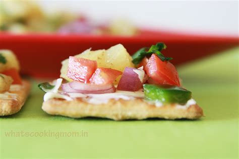 healthy canapes dinner pineapple salsa canapes whats cooking