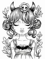 Devil Cute Pages Drawing Coloring Getdrawings Clipartmag sketch template