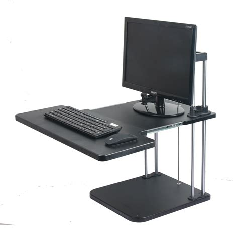 sit stand laptop desk computer standing desks lifter sit stand desk two level