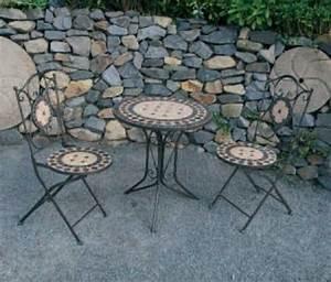 Runder Tisch Mit Stühlen : sitzgarnitur mosaik sitzgruppe runder tisch mit 2 st hlen metall gartengarnitur ebay ~ Sanjose-hotels-ca.com Haus und Dekorationen