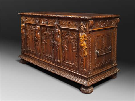 Ancient Roman Furniture History by A French Renaissance Carved Walnut Coffer Gabrielle Laroche
