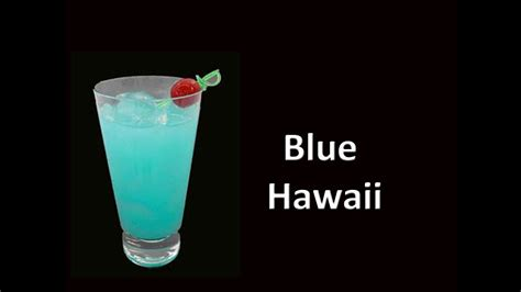 blue hawaii cocktail drink recipe youtube