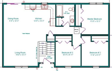 Find small & large rambler style home designs w/walkout basement! simple rectangle two story floor plans with roof top deck ...